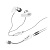 Andrea SB205-B USB ear bud with microphone array technology for noise cancelling voice pick up and surround sound recording.